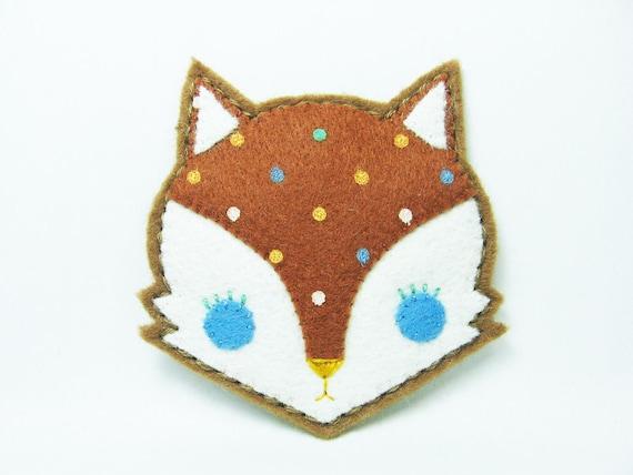 SALE Candy fox felt pin