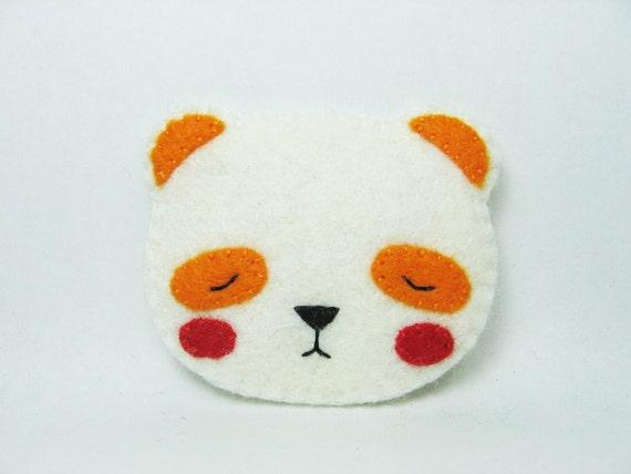 SALE Coloring pandas... felt pin