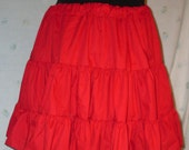 Lolita Style Petticoat Skirt in Scarlett Red