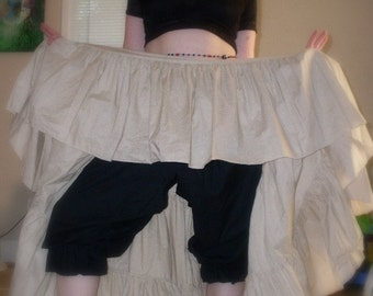 Picnic Panties Pirate Bloomers Your Size Cotton Peek A Boo Bloomers, Open crotch period style bloomers