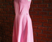 Cute Country Girl Pink Spring Summer Vintage Dress