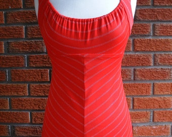 Red Sexy Maxi Boho Dress / Vintage 70s Spring Summer Dress / Silver Detailing / Hippie Festival Wear