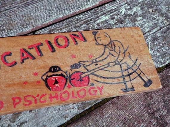 1950s vintage SPANKING PADDLE Discipline punishment wood