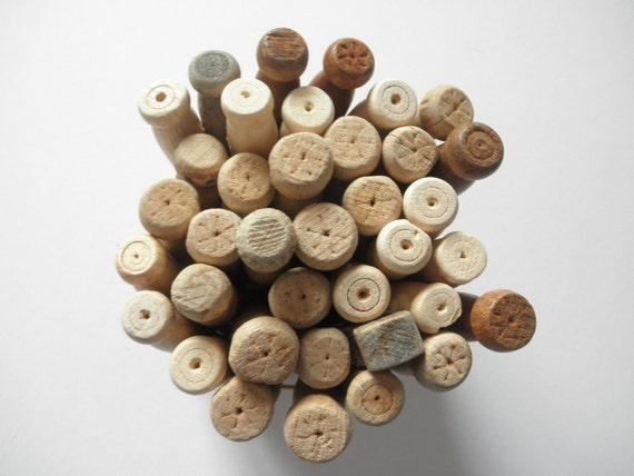 Lot oF Old Wooden Clothes Pins--Some used - some not -You get all you see here.