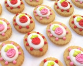READY TO SHIP Shabby Chic Rose Cookies (20 cookies)