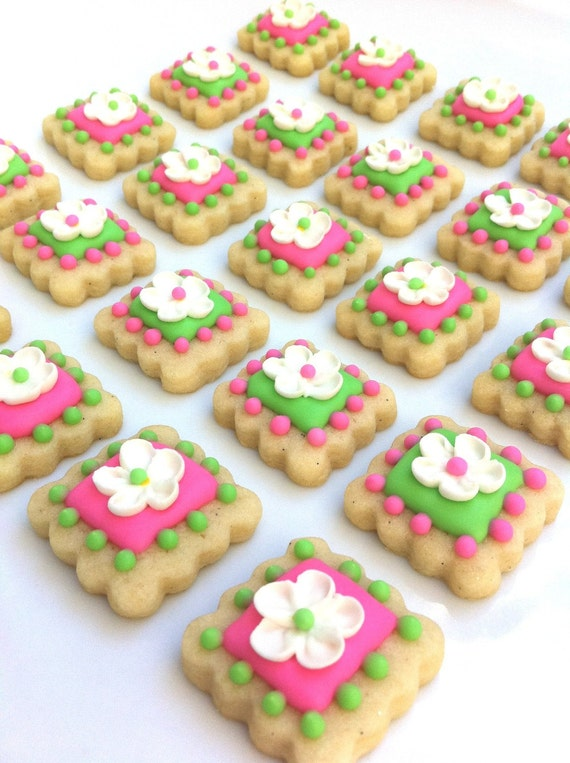 Flower Girl Tile Cookies (3 dozen)