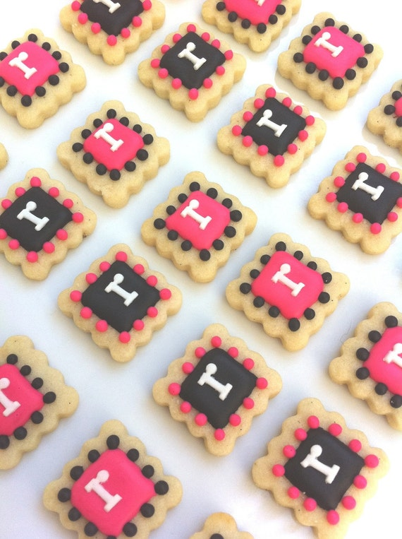Monogram Cookie Tiles (3 dozen)