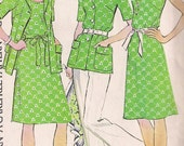 Vintage 1970s Dress and Jacket Sewing Pattern MOD, Size 18 1/2, Bust 41, McCalls 4066