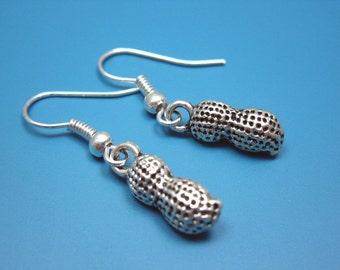 Little Peanut Earrings - cute earrings food earrings funny earrings funky quirky earrings minimal jewelry tiny earrings mini kawaii earrings