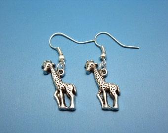 Giraffe Earrings - safari animal earrings fun jewellery zoo wild life cute earrings kawaii jewelry deer earrings chic earrings szeya designs