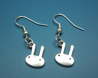 Mini Bunny Earrings - tiny cute earrings rabbit earrings animal earrings quirky earrings fun earrings minimal miniature kawaii earrings