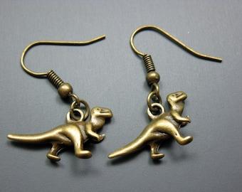T-Rex Earrings - dinosaur earrings tyrannosaurus cute earrings rockabilly quirky funny earrings geeky nerdy retro jewelry kawaii earrings