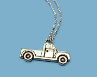 Pickup Truck Necklace - stainless steel chain quirky jewellery funny jewelry geek chic punk emo funky necklace car necklace cute necklace