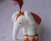 Vintage Style Spun Cotton.....Circus Elephant Ornament Candy Container.....