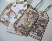 Christmas Gift Tags.......Cats and Kittens......6 Different.....