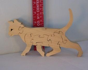 Wooden Kitten Puzzle Poplar Hardwood
