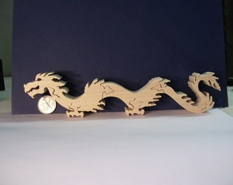 Wooden Chinese Dragon Puzzle Poplar Hardwood