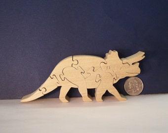Wooden Dinosaur Puzzle Poplar Hardwood