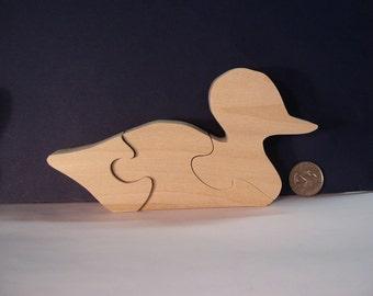 Wooden Duck Puzzle Poplar Hardwood
