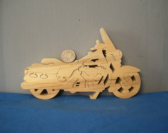 Wooden Touring Motorcycle Puzzle