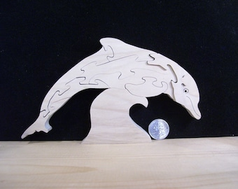Wooden Dolphin Puzzle