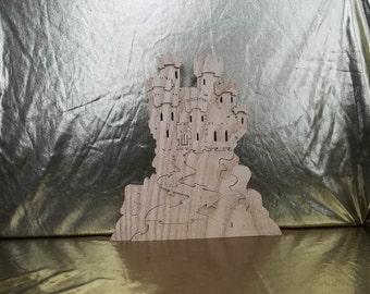 Wooden Castle Puzzle American Hardwood