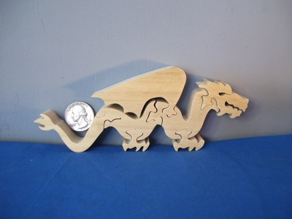 Wooden Small Winged Dragon Puzzle