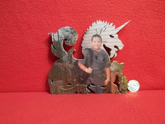 Personalized Wooden Unicorn Photo Puzzle