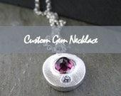 Custom Gem Necklace Deposit for Brooke