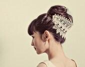 Venetian lace headpiece- style 124