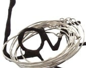 6 Sterling Silver Clasp Bangles of interlocking LOVE for the price of 5