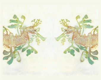 "Leafy Sea Dragons - Print from my Original Painting - 8""x10"" 5""x7"", 9""x12"" or 11""x14""- Archival Print"
