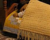 Doll Bed Blanket, Throw, Lap Blanket, Comforter, Security Blanket, Coverlet - Crocheted for American Girl Dolls