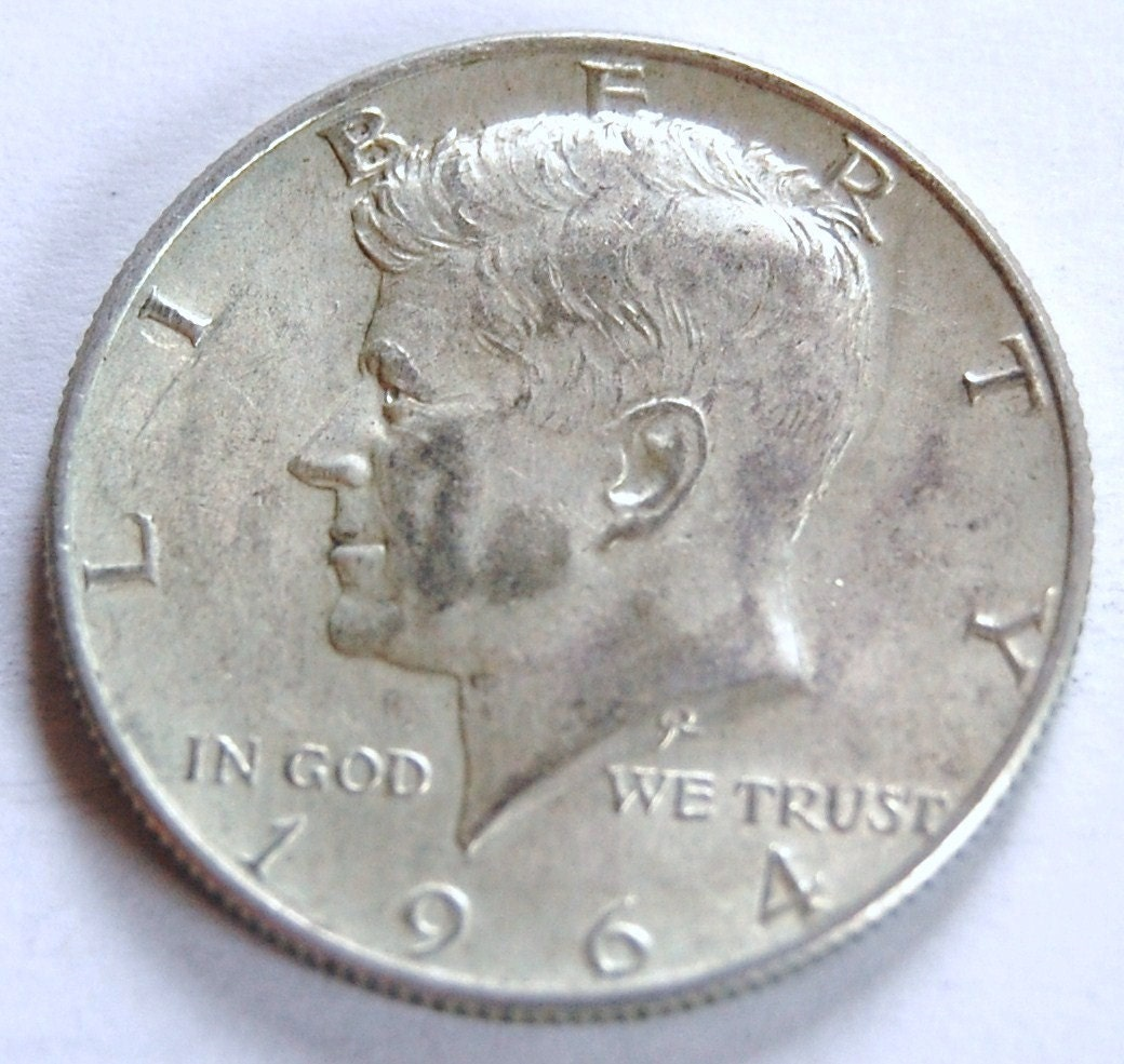 Amazing photo of Rare Coins 1964 D Kennedy Half Dollar by simplydonewright on Etsy with #6F5D4E color and 1040x985 pixels