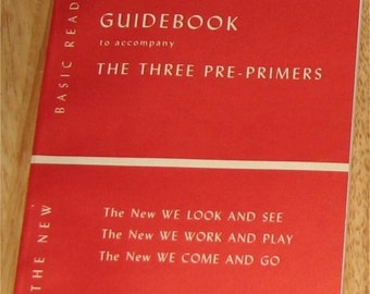 1951 Guidebook to accompany The Three Pre-Primers - Dick and Jane - rare paperback - MINT and UNUSED