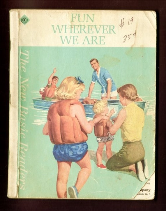 1965 Fun Wherever We Are - Dick and Jane rare 1st printing - ethnic basic reader pre-primer