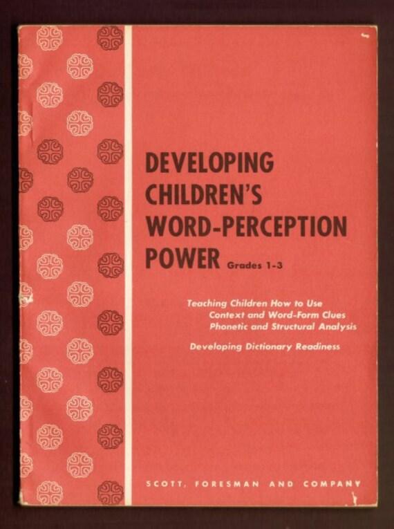 1954 Developing Children's Word-Perception Power Grades 1-3 Rare Dick and Jane Teachers Book