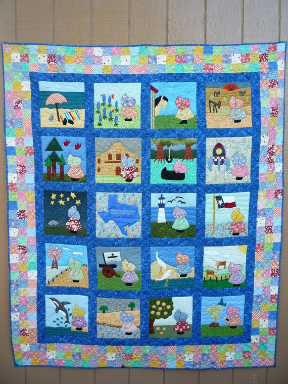 Sunbonnet Sue In Texas Quilt Pattern By Sharoney54 On Etsy