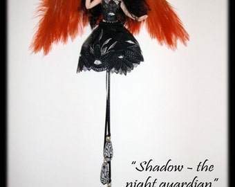 OOAK night guardian fairy Shadow with IADR number by KDL