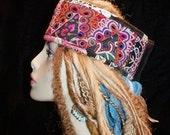 Headband Gypsy Peace Crown Multicolor Indian Work