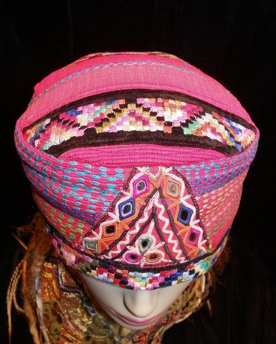 Hat Red Guatemala Gypsy World Peace Hat