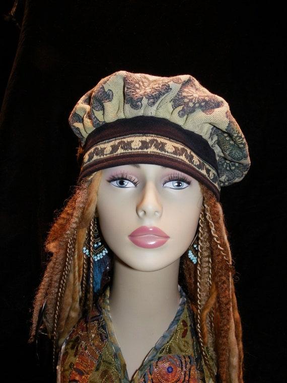 Hat Antique Flowered Tapestried Rembrandt Hat