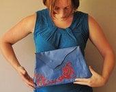 Half Price SALE xxx Electric Blue Clutch Bag - size XL xxx Half Price SALE