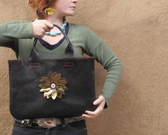 xxx READY to SHIPxxx Black leather Hobo handbag big enough for your laptop xxx READY to SHIP xxx