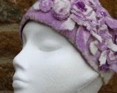 lilac felt headband wet felting