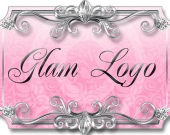 Glam Damask Girly Premade Logo