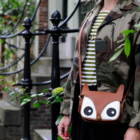 Fox Bag / Original Design / foxy bag / leather bag / animal bag / shoulder bag / hand bag / women's bag