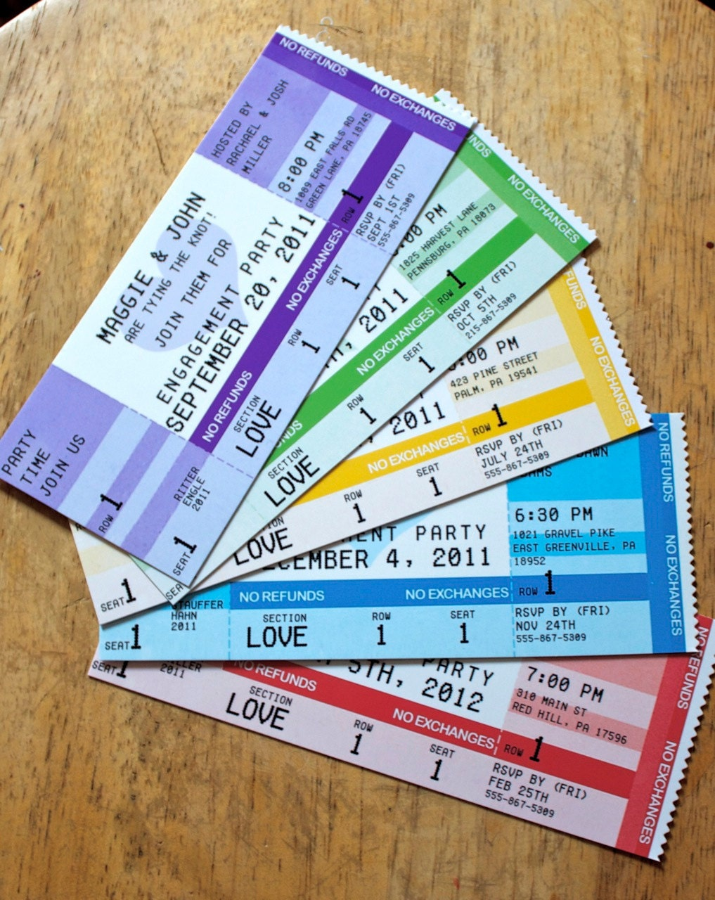 Dating ticket