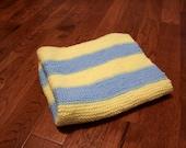 Blueberry Lemonade Striped Baby Blanket (Stroller Size)