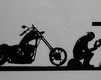 Praying Biker